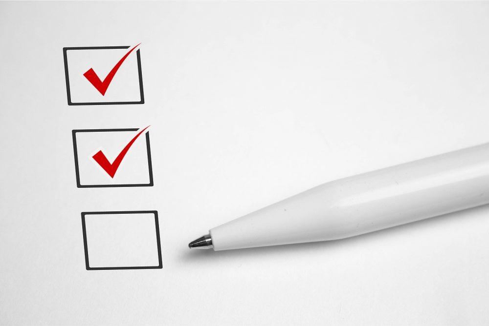 Sample checklist for bathroom remodeling